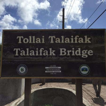 Agat, Mariana Islands: Attraction sign