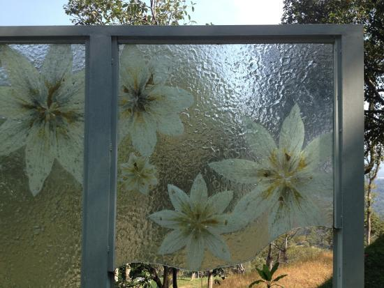 Textured glass panels picture of art and garden penang for Textured glass panels