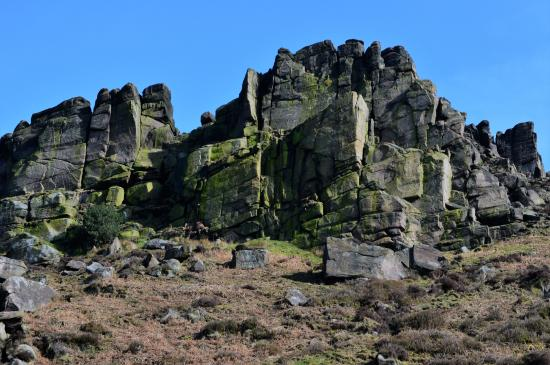 Upper Hulme, UK: Hen Cloud, the Roaches, Staffordshire