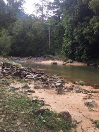 Labis, Malaysia: This is the river along the Merekeh Camp site