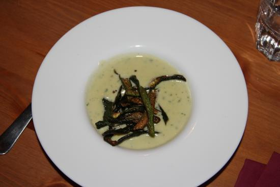 romige courgette-soep - picture of tribus gourmet diner, benitachell