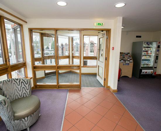 Lobby at the Premier Inn Leeds East Hotel
