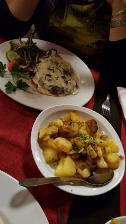 Huttenheim, فرنسا: entrecote sauce roquefort