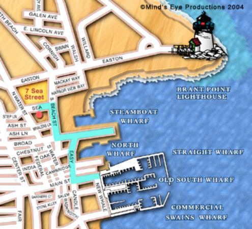 Seven Sea Street Inn: Map of Historic District