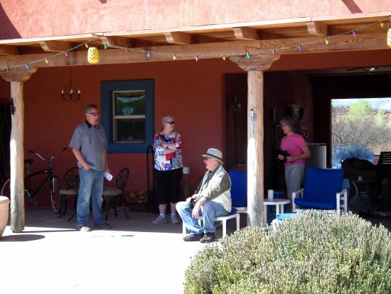 Saint David, AZ: Socializing on the back patio