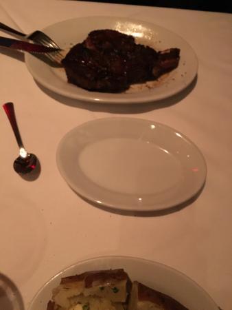 Ruth's Chris Steak House: Hubby's huge steak