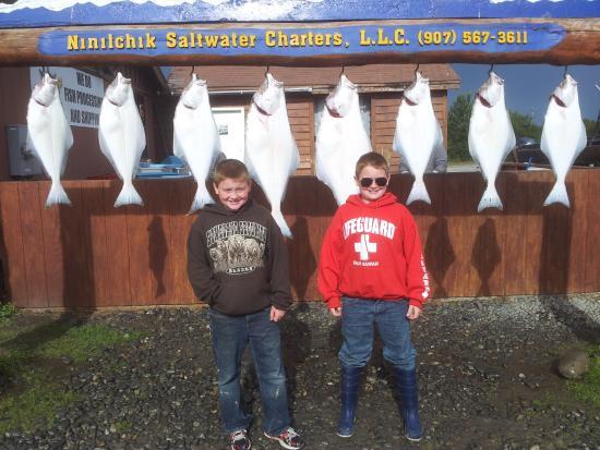 Kenai Riverfront Resort: Alaska Halibut fishing in Cook Inlet!