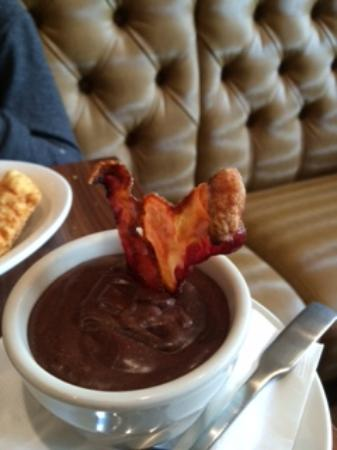 Buffalo Restaurant & Bar: Salted caramel and chocolate mousse with candied bacon