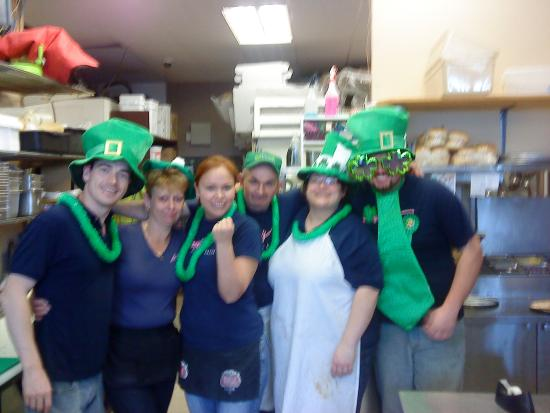 Louie's Pizza: St Patty's Day