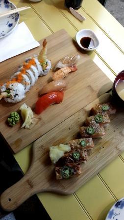 Aburi Sushi, Nigiri and Dynamite Roll
