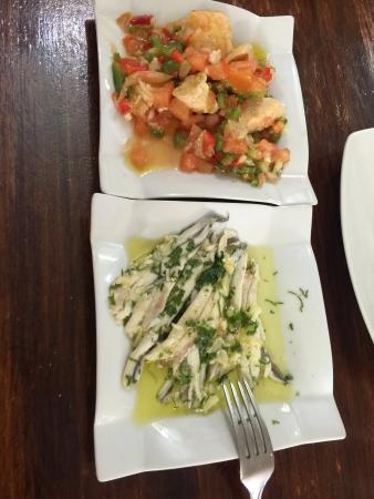 Bar Restaurante Nuevo Echate Paya : Algunos de sus platos