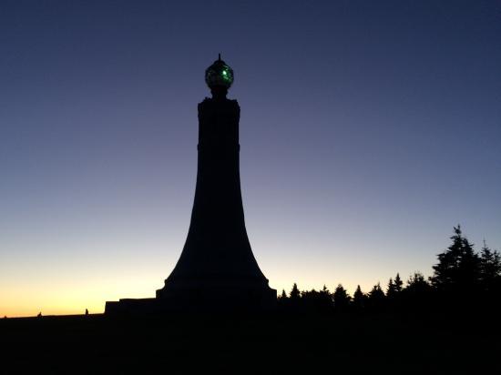 Adams, MA: Greylock Summit tower at sunset