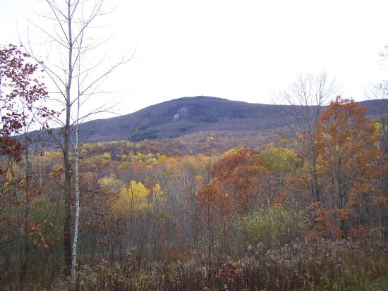 Adams, MA: Greylock viewed from the Glen in late fall