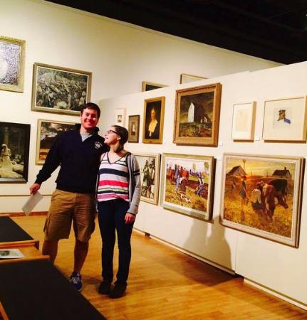South Dakota Art Museum: My oldest and youngest kids enjoying the museum!