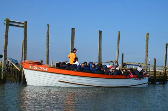 loved the name of the boat 'Sea Trout' - Picture of Beans Boat Trips