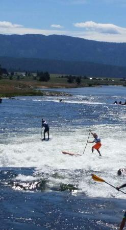 Cascade, ID: SUP contestants during the Payette River Games.
