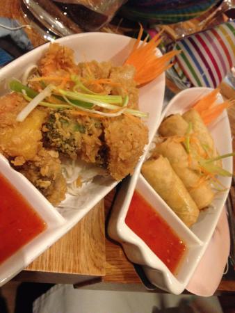 Vegetable tempura & Spring rolls