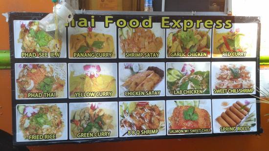 Menu Picture Of Thai Food Express One Kaneohe Tripadvisor