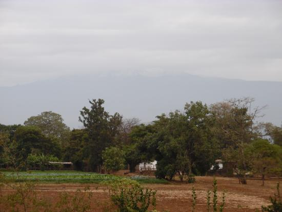 Lutheran Uhuru Hotel Moshi: view of Kili from the hotel