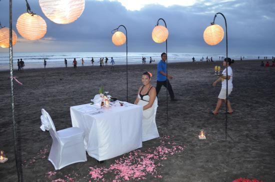 Romantic Dinner At The Beach Picture Of K Resto Seminyak Tripadvisor