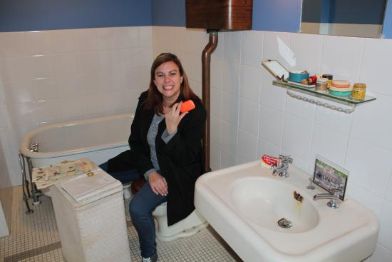 a christmas story house so yeahthats me sitting on the toilet
