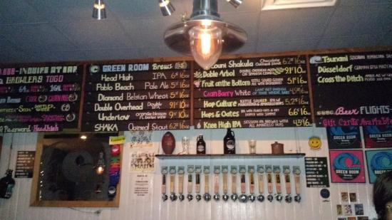 Green Room Brewing: Great Selection