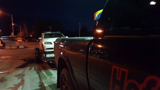 Keene, estado de Nueva York: we had it towed...