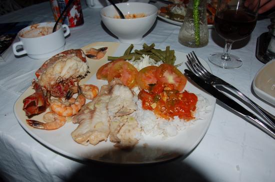 Casa Roberto y Olga: Meeresfrüchteplatte