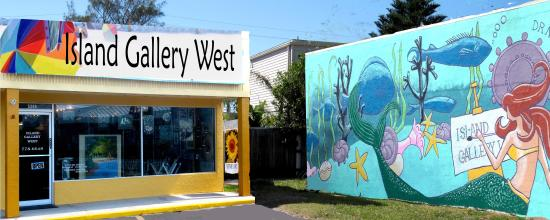 Island Gallery West and its famous mural.