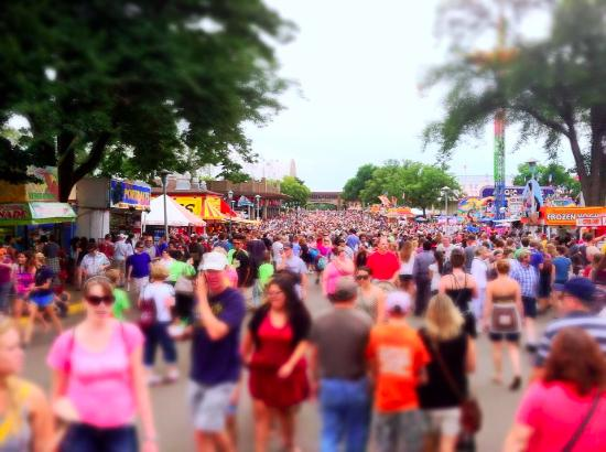 Mn state fair crowds picture of minnesota state fair for Iowa largest craft show