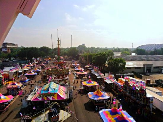 Mn State Fairgrounds From Midway Ferris Wheel Picture Of