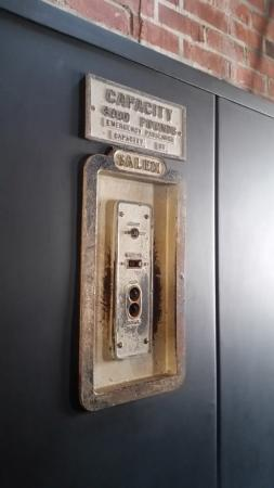 Chilhowie, VA: Old elevator controls in foyer - neat local history
