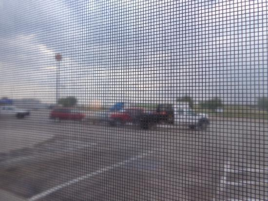 Cozad, NE: view of parking lot