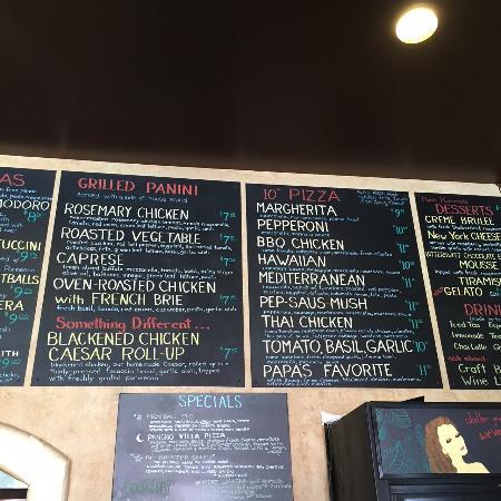Papa Lennon's: Glimpse at the menu