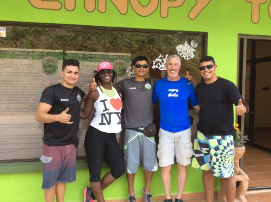 Osa Canopy Tour : The Walkers with our Amazing Tour Guides!