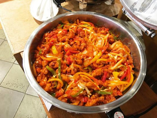 Chicken Chili Spicy And Sweet Chicken With Red Chili Picture Of Indoro Restaurant Seoul Tripadvisor