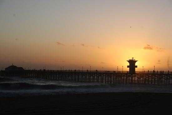 Sunset over the Seal Beach Pier