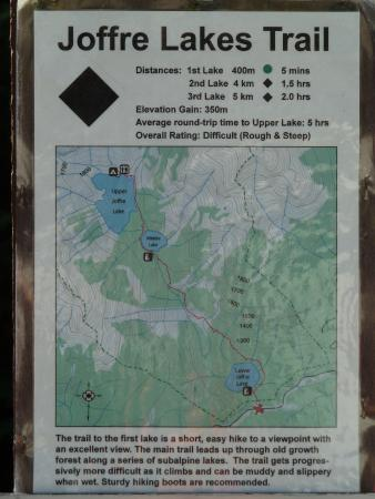 Pemberton, Canada: The map with the hiking trail