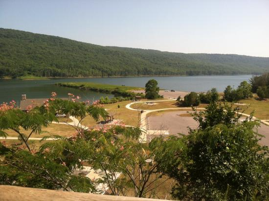 Mountainburg, AR: Photo taken behind the visitors center of Lake Ft. Smith