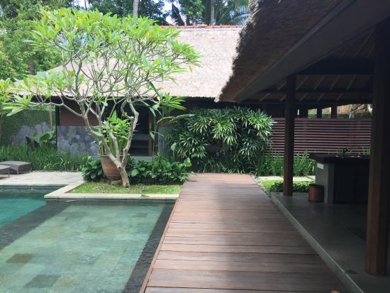 outdoor living room modern kayumanis ubud private villa spa ahead with his outdoor bathroom at the first plan