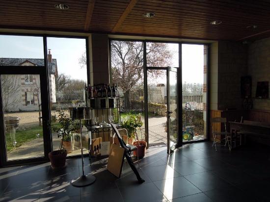 Domaine de Noiré: Domaine de Noire 15 March 2016 tasting room view to courtyard