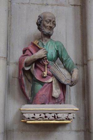 De Lachende Petrus De Sleutelbewaarder Van De Kerk
