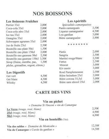 Carte Restaurant Boisson.Carte Boisson Carte