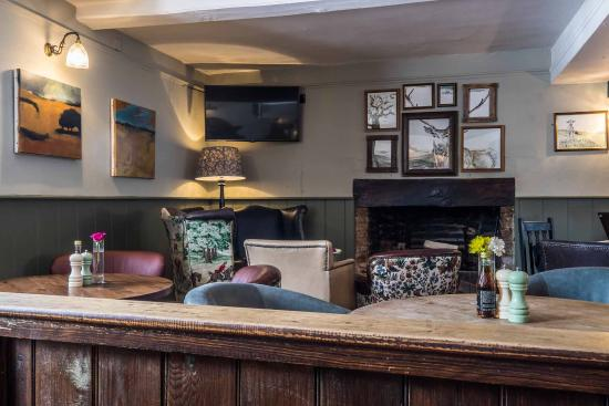 Hindon, UK: Bar area