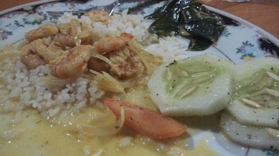 Four Tees Rest Inn: Krevety v kokosovém mléce