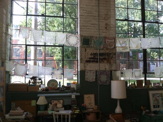 Huntsville, AL: White Rabbit Studios: Photography, Studio 110 - Love the clothes line with hankies