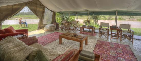 Ol Pejeta Bush Camp, Asilia Africa: The lounge at Ol Pejeta Bush Camp