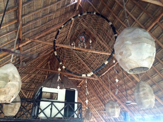 Biggest Dream Catcher biggest dream catcher in restaurant Picture of Pocna Tulum 12