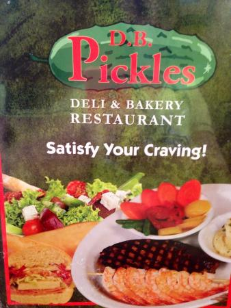 D.B. Pickles : Menu