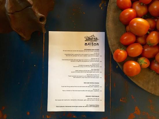 Maison de Tet decor menu, cakes and staff - Picture of Maison de ...